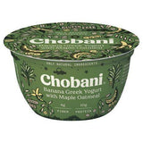 Chobani Yogurt, Banana Greek, Low-Fat, with Maple Oatmeal - 5.30 Ounces