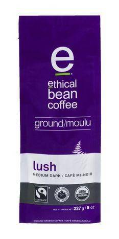 Ethical Bean Coffee Coffee, Arabica, Ground, Medium Dark Roast, Lush - 8 Ounces