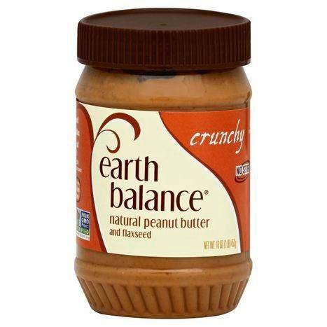 Earth Balance Natural Peanut Butter, Crunchy, and Flaxseed - 16 Ounces