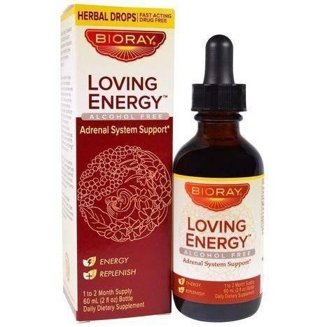 BIORAY Loving Energy Alcohol Free Herbal Drops - 2 Fluid Ounces