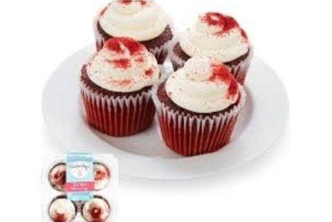 KIMBERLY'S RED VELVET CUPCAKES 4PK
