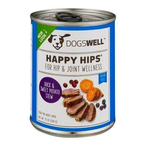 Happy Hips Food for Adult Dogs, Duck & Sweet Potato Stew - 13 Ounces