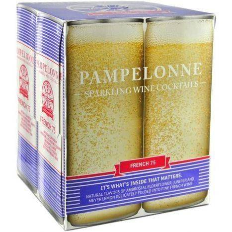 Pampelonne Saparkling French 75 Wine Cocktail - 4 Pack
