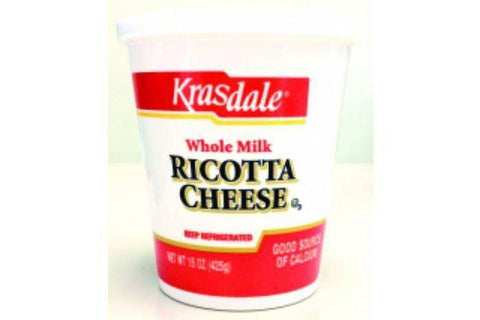 Krasdale Whole Milk Ricotta Cheese - 15 Ounces