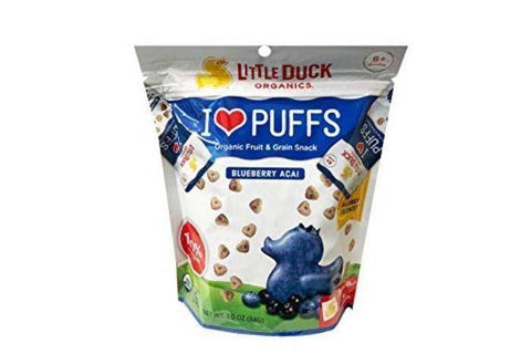 Little Duck Organic Blueberry Acai Puffs - 3 Ounces