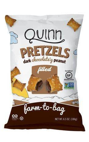 Quinn Pretzel Nuggets, Dark Chocolate'y Peanut Filled - 6.5 Ounces