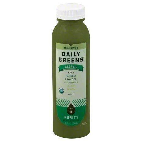 Daily Greens Vegetable and Fruit Juice, Organic, Purity - 12 Ounces