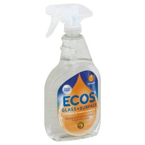 Ecos Cleaner, Glass + Surface, Vinegar - 22 Ounces