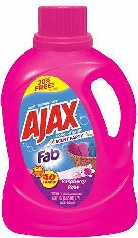 Ajax Party with Fab Raspberry Rose Concentrated Scent - 60 Ounces