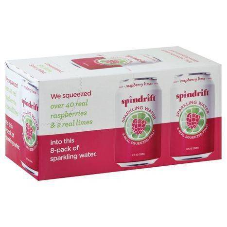 Spindrift Sparkling Water, Raspberry Lime, 8-Pack - 8 Pack
