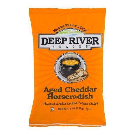 Deep River Aged Cheddar Horseradish Potato Chips - 5 Ounces