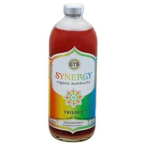 GTs Enlightened Synergy Kombucha, Organic, Trilogy - 48 Ounces