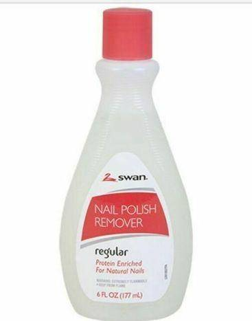 2 Swan Nail Polish Remover Regular Protein Enriched Natural Nails - 6 Ounces