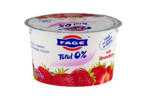 Fage Total Yogurt, Greek, Nonfat, Strained, with Strawberry - 5.3 Ounces