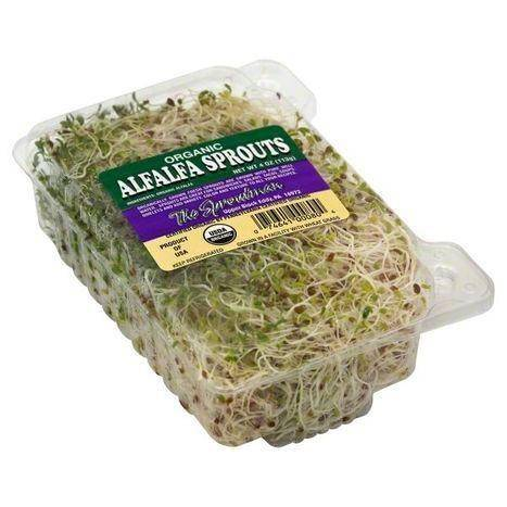 The Sproutman Alfalfa Sprouts, Organic - 4 Ounces