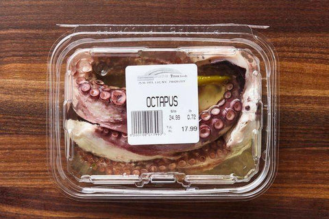 Fresh Octopus in Oil, Container