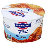 Fage Total Yogurt, Greek, Whole Milk, Strained, with Honey - 5.3 Ounces