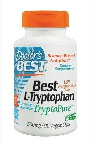 Doctor's Best L-Tryptophan featuring TryptoPure 500 mg - 90 Count