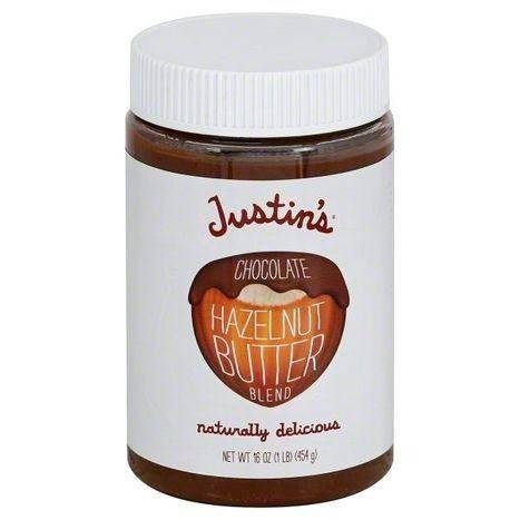 Justins Hazelnut Butter Blend, Chocolate - 16 Ounces