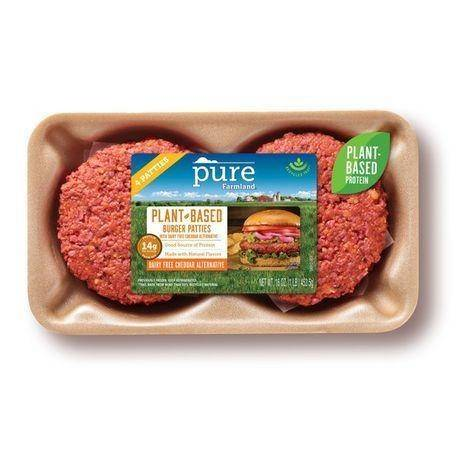 Pure Farmland Simply Seasoned Plant Based Burger Patties - 16 Ounces