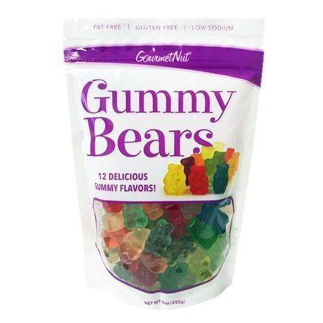 Gourmet Nut Fat Free And Gluten Free Sour Gummies - 9 Ounces