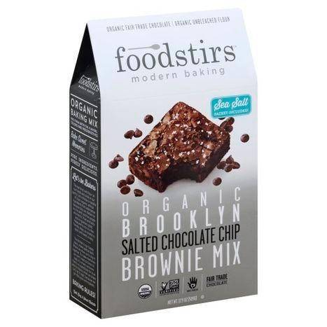 Foodstirs Brownie Mix, Salted Chocolate Chip - 17.9 Ounces