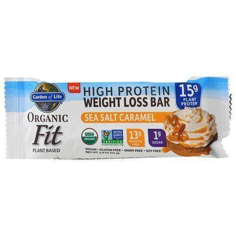 Garden of Life Organic High Protein Sea Salt Caramel Weight Loss Bar