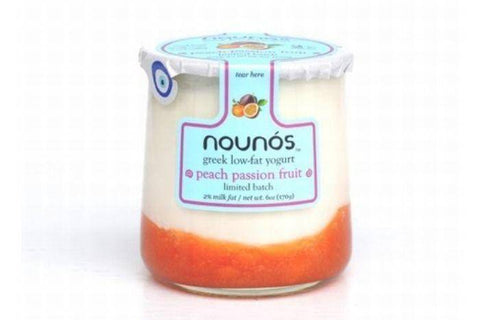 Nounos Greek Low-Fat Peach Passion Fruit Yogurt - 5.3 Ounces