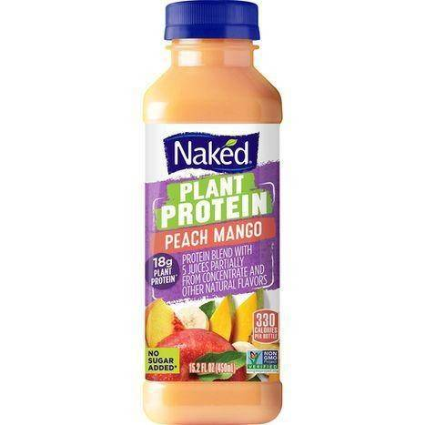 Naked Plant Prot Peach Mango Juice - 15.2 Ounces