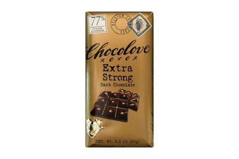 Chocolove Dark Chocolate, Extra Strong, 77% Cocoa Content - 3.2 Ounces