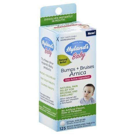 Hylands Baby Bumps + Bruises, Arnica, Quick-Dissolving Tablets - 125 Each
