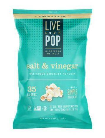 Live Love Pop Delicious Gourmet Salt & Vinegar Popcorn
