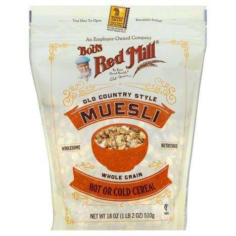 Bobs Red Mill Oatmeal, Muesli, Old Country Style - 18 Ounces