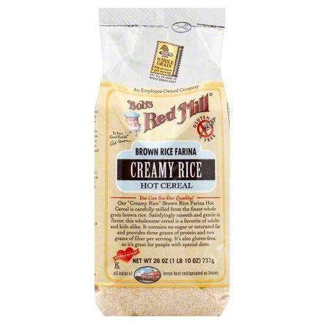 Bobs Red Mill Hot Cereal, Creamy Rice, Brown Rice Farina - 26 Ounces