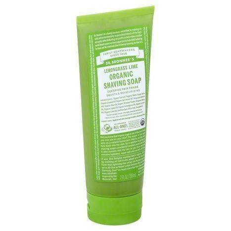 Dr Bronners Shaving Soap, Organic, Lemongrass Lime - 7 Ounces