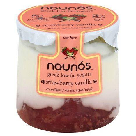 Nounos Yogurt, Low-Fat, Strawberry Vanilla, Greek - 5.30 Ounces