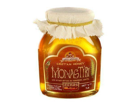 Monastiri Cretan Honey 1lb Jar - 1 Pound