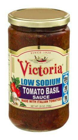 Victoria Sauce, All Natural, Low Sodium, Tomato Basil - 24 Ounces