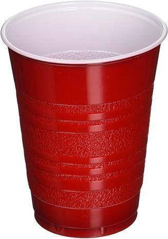 Krasdale Red Plastic Cups - 50 Count