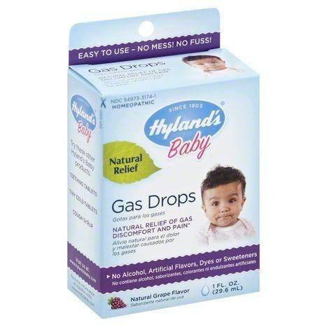 Hylands Baby Gas Drops, Natural Grape Flavor - 1 Ounce