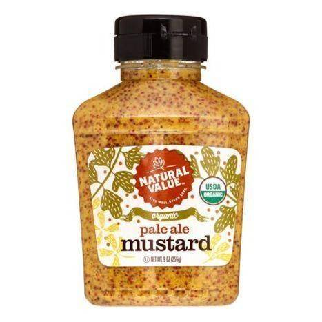 Natural Value Organic Pale Ale Mustard - 9 Ounces