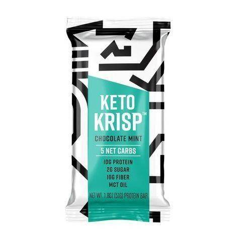 Keto Krisp Chocolate Mint Protein Bar - 1.8 Ounces