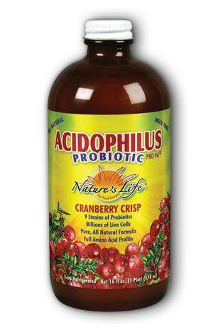 Nature's Life Acidophilus Probiotic Pro-96 Cranberry Crisp Liquid