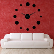 Round Mirror Large Wall Clock