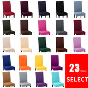 1-6Pcs Removable Universal Spandex Solid Color Stretch Chair Protection Cover