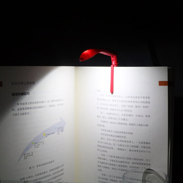 Adjustable USB Flexible LED Clip-on Book Reading Light/ Lamp With Battery