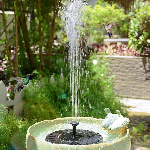 Mini Outdoor Solar Power Water Fountain/ Garden Pool Decor