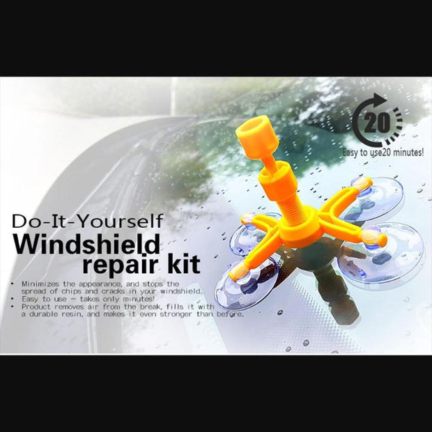 Quick Fix Windshield/ Cracked Glass Resin Sealer Repair Kit