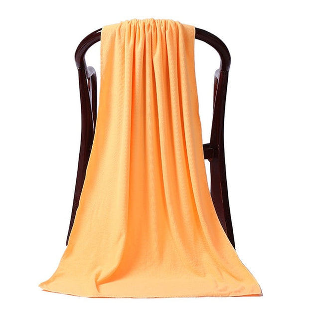 Microfiber Plain Bed Towel