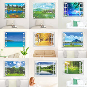Removable 3D Vinyl Nature Landscape Window View Wall Stickers